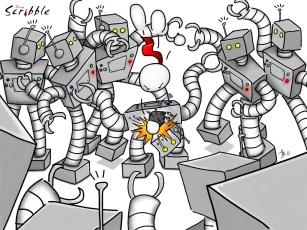 Johnny vs. the Evil Retrobots